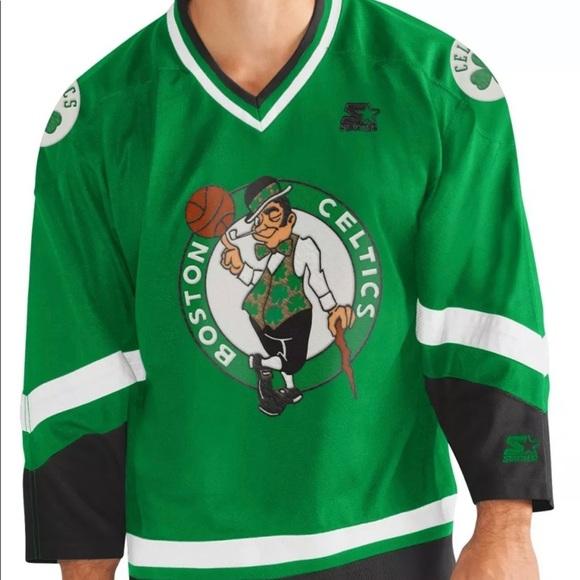 "STARTER Other - Boston Celtics starter ""crossover"" hockey jersey"